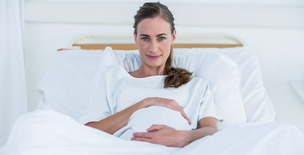 Pregnant women at the hospital