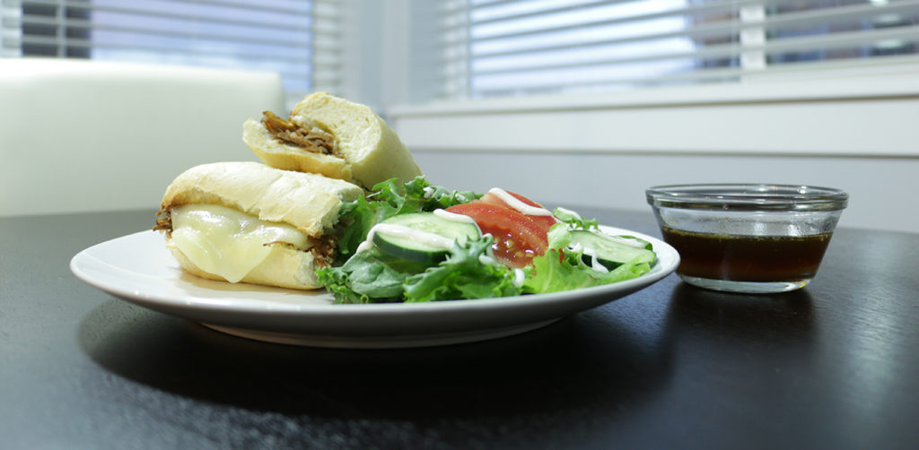 Forté Recipes: French Dip with side salad