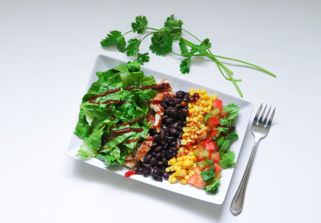 Forte Recipes: BBQ Chicken Chop Salad birds-eye view