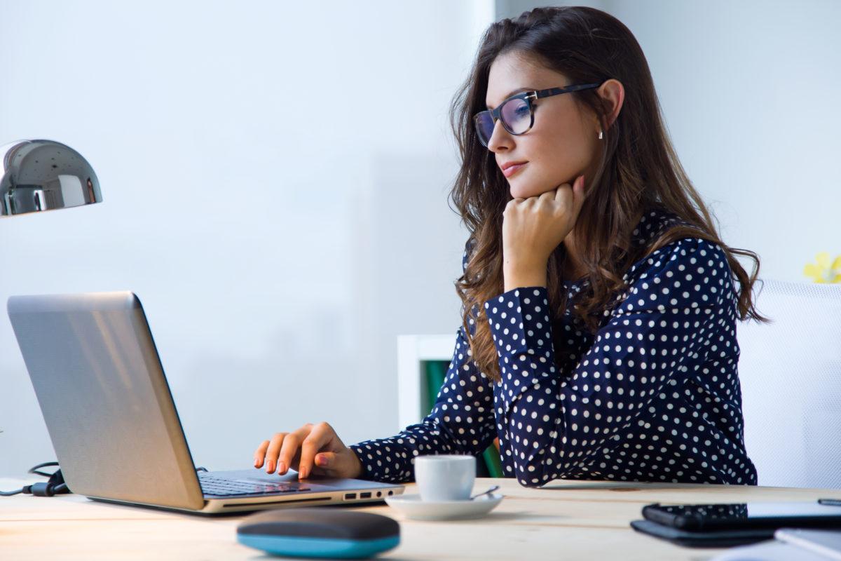 Women looking up information online