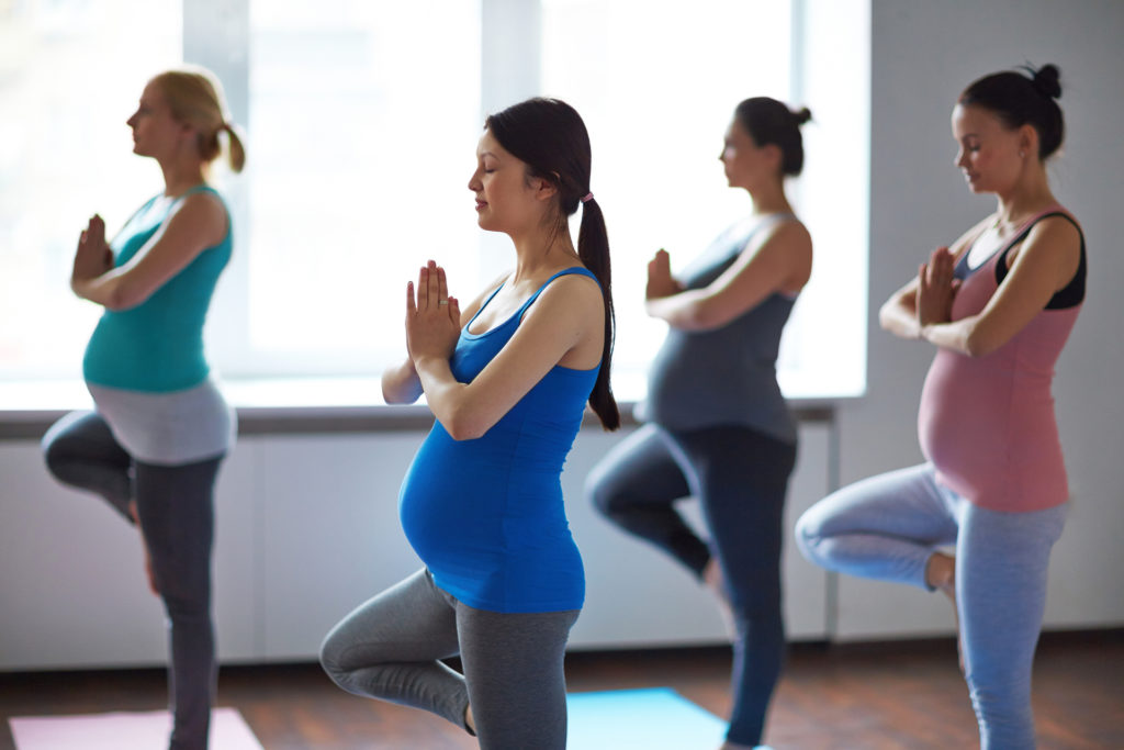 Female Yoga Exercise During Pregnancy